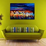"""Sliwei Art Wall Decor Canvas Wall Art, Original Designed Painting on Canvas Oil Painting Poster Print Without Frame, Cruise Ship 11.8""""x7.9"""""""