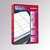 Heisap CD-Etiketten 100 Blatt A4 weiß permanent klebend, 117 mm /17mm