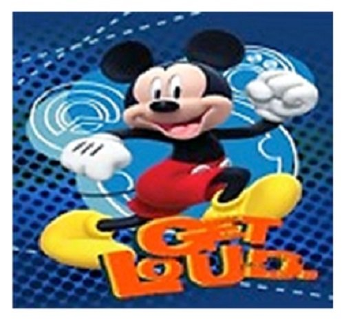 Disney Mickey Mouse, Donald Duck, Goofy und Pluto Super Soft Plüsch Übergroße Twin Größe Decke Get Loud (Mickey-mouse-twin Bettwäsche)