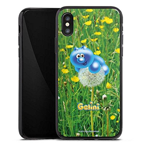 Apple iPhone X Silikon Hülle Case Schutzhülle Gelini Gummibärchen Pusteblume Silikon Case schwarz