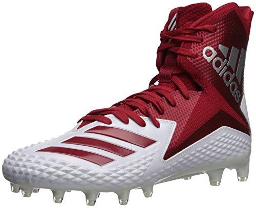 adidas Herren High Freak X Carbon Mid Football-Schuhe, White Power Red, 44 - Adidas Football Schuhe