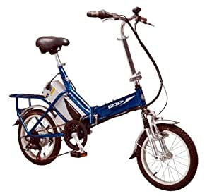 Izip Downtown Alloy 6-Speed Folding Power Assisted Bike - Blue, 16 Inch