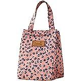 WOOSAL bolsa para el almuerzo (apta para congelador) con cierre de velcro, Tote Cooler Bag