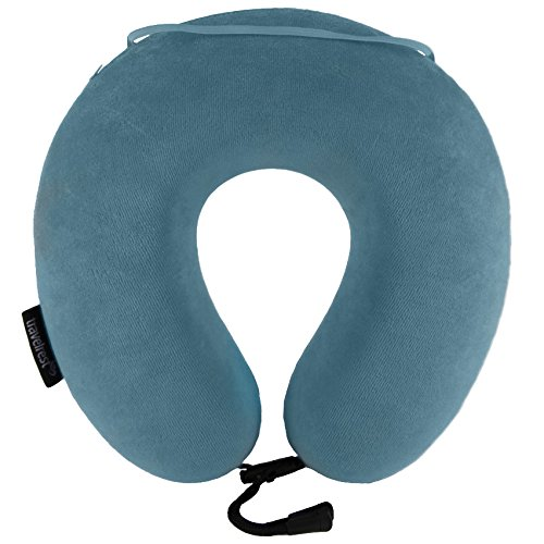 travelrest-therapeutic-memory-foam-travel-neck-pillow-washable-micro-fiber-cover-attaches-to-luggage
