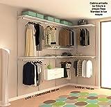 ALUCABINA Begehbarer Kleiderschrank, Kleiderschrank Wand von höchster Qualität. 3.00x 1.50m. Aluminium eloxiert