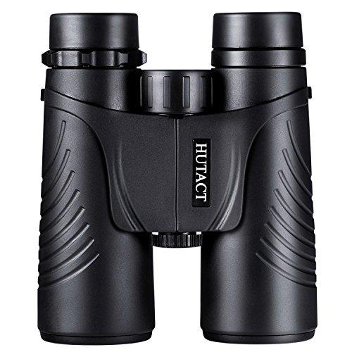 HUTACT Prismáticos 10x42, de Campo Amplio Binoculares Prismaticos Compactos Profesionales HD para viajeros, para observar Aves, Detalles más Luminosos y nítido, a Prueba de Agua y Polvo