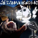 Weihnachten Projektor Lichter, LED Schneefallprojektorlicht mit 20 Motiven, IP65 Wasserdichter Landschaftslicht, Weihnachten Beleuchtung Dekorations außen/innen by Yinuo Mirror [Aktualisierte]
