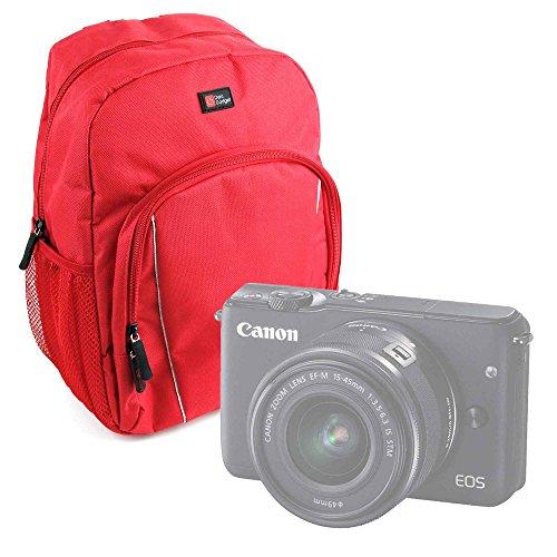 Galleria fotografica Zaino Rosso + Custodia Impermeabile Per Camera Easypix W1024 Full HD | Fujifilm FinePix XP120 | X100F | Nikon A10 Coolpix Silver | Coolpix A100 - Nylon Di Alta Qualità - DURAGADGET
