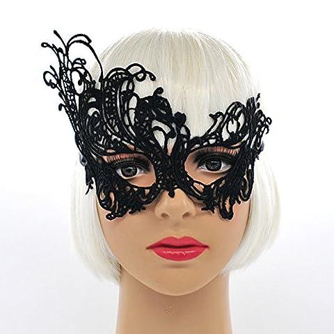 Tocoss(TM) Myst¨¦rieux Ange 9 mod¨¨les Masque dentelle noire New Girls Une vari¨¦t¨¦ de formes dentelle Boule de masque de mascarade de Halloween Pictorial [Phoenix]