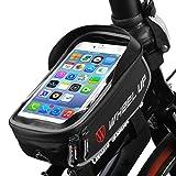 Borsa da manubrio per bici, ieGeek porta Phone / GPS da bicicletta con TPU touch screen ad alta sensibilità da 6 pollici, telaio impermeabile da viaggio per iPhoneX / iPhone 8 Plus / Galaxy Note 8 / S8 / Huawei Honor, Nero e Grigio