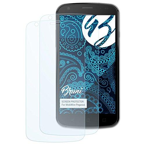 Bruni Schutzfolie kompatibel mit MobiWire Pegasus Folie, glasklare Bildschirmschutzfolie (2X)