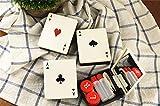Moda unico carte da gioco a forma di lenti a contatto Contact Lens box (colore casuale), beige