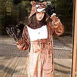 Ducomi Kigurumi Pigiami Costumi Divertenti - Pigiama Unisex Adulto Cosplay Costume Animale - Peluche Halloween e Carnevale Donna Uomo - Pigiamone Tuta Unicorno, Koala, Panda (Orso Bruno, M)
