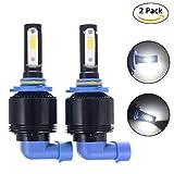 Led ampoules de phare tout en un kit 2pcs/lot de 6500K Température de couleur 4000LM Flux lumineux...