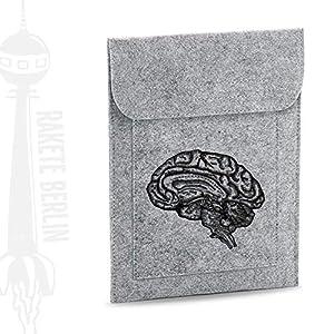 Tablet Filzhülle 'anatomisches Gehirn – gezeichnet'