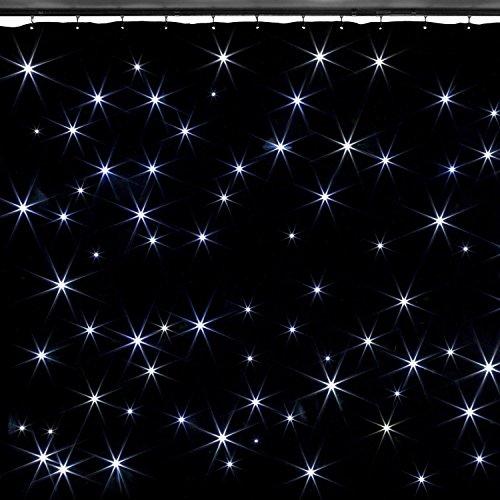 Beamz SparkleWall Vorhang 96LED RGBW, Größe von 3X 2Meter, DMX-Steuerung, distinas Funktionen, Fernbedienung)