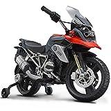 ROLLPLAY Premium Moto Électrique, À partir de 3 Ans, Jusqu'à 35 kg, Batterie 12 Volts, Jusqu'à 4 km/h, BMW 1200 Motorcycle, Rouge