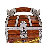 Piraten Schatzkiste Schatztruhe Schatzbox 12 Stück aus Pappe für Mitgebsel und Give-Aways Palandi