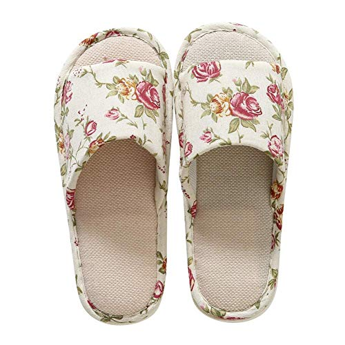 Wingbind zapatillas de interior punta abierta de casa caliente dormitorio antideslizante Suela zapatillas...