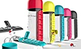 #10: ZZ ZONEX Combine Water Bottle With Removable 7 Day Pill Organizer & Drinking Cup ( Random Color).