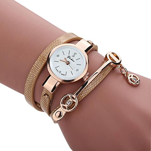 -Reloj para mujer de Sonnena, correa de metal y reloj analógico con pulsera con joyas, informal, ideal para fiestas, discotecas, regalo ideal para San Valentín, de acero inoxidable, dorado, Watch