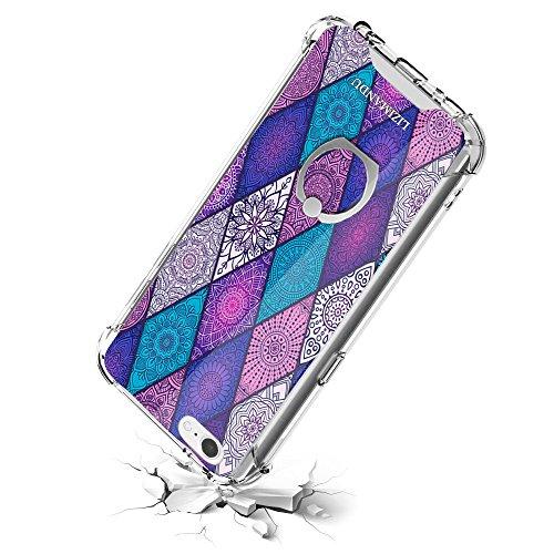 iphone 6 Durchsichtige TPU Case Hülle - Lizimandu iphone 6/6S Handyhülle & mit 360 Grad Drehbarem Ring Kickstand Series Transparent Schutzhülle(Diamant-Böhmen/Diamond Bohemia) Diamant-Böhmen/Diamond Bohemia