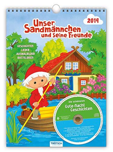 Kinderkalender Unser Sandmännchen 2019 Familienkalender: mit CD und Gute-Nacht-Geschichten