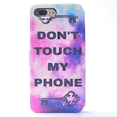 Cover iPhone 7 Plus, CaseLover iPhone 7 Plus 5.5 Custodia Pelle 3D Magnetico Protettiva Stampata Portafoglio con Sottile Silicone Morbido Case Cinturino Card Slot Antigraffio Flip PU Supporto Funzion non toccare il mio telefono