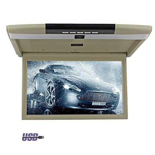 Multimedia PUPUG 2016 neue 15-Zoll-Auto Auto LCD-Overhead mit USB-Sd FM-Modulator HD 1366 * 768 Aufl?sung Auto ¨¹berwachen widenscreen 2 AV-Eingang 1080P Dach unterst¨¹tzen Monitorhalterung -