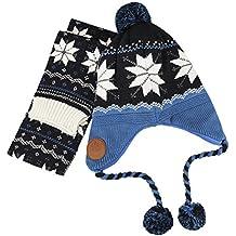 Gorro Peruano Niño Unisex Snood bebé 2 Lots gorro y bufanda conjunto  capucha protección de los 29c4ed7289a
