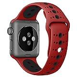 Uhrenbänder für Apple Watch 38mm Armband Silikon Serie 1 2 3 für Männer Frauen