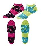 Zumba Lot de 2en Couleurs éclatantes, Baskets, Chaussettes pour Le Fitness, Compression Socks, Outfit