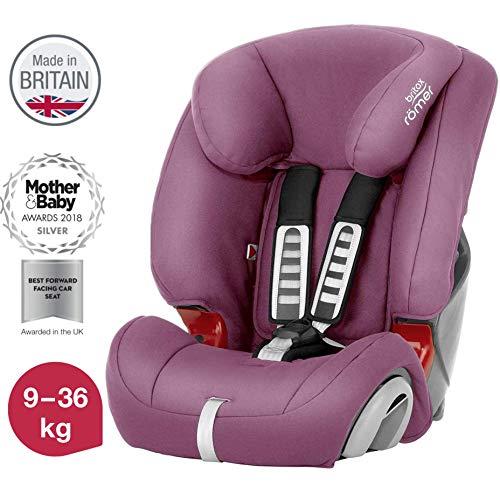 Britax Römer Kindersitz 9 - 36 kg, EVOLVA 123 Autositz Gruppe 1/2/3, wine rose