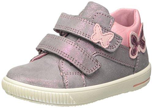 Superfit Baby Mädchen Moppy Sneaker, Grau (Smoke Kombi), 23 EU