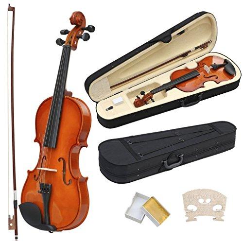 Oypla Full Size 4/4 akustische Violine Set mit Fall, Bow & Rosin