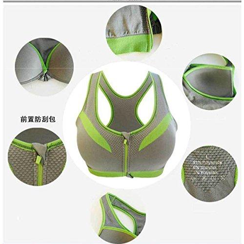 Reggiseno Sportivi per Donna - WinCret moda femminile elastico a spalle scoperte Alta Compatta Allenamento Palestra Yoga Activewear Bra Grigio