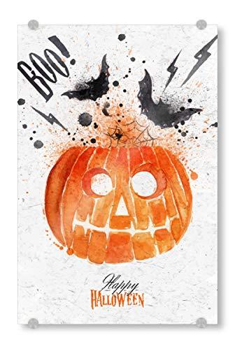 ild 30x20 cm Festivals Pumpkin Halloween Bild hinter Acrylglas - Bild Halloween Pumpkin Dark ()