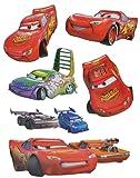 alles-meine.de GmbH 6 tlg. Set: 3-D Wandtattoo / Fensterbild / Sticker -  Disney Cars Lightning McQueen  - Wasserfest - Selbstklebend Pop-up Aufkleber Wandsticker Auto