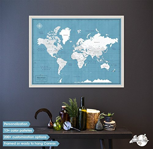 Desertcart pin adventure map buy pin adventure map products framed world travel map pin boardpush pin travel map with personalization options world pinboard map gumiabroncs Image collections