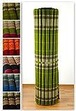 Kapok Rollmatte der Marke Asia Wohnstudio, Thailändische Rollmatte, Entspannungsmatte, Yogamatte, Pilates, Rollmatratze (grün)