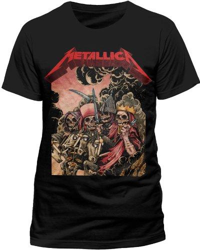 Live Nation Herren T-Shirt Metallica - Four Horsemen Schwarz