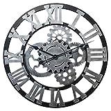 Jo332Bertram Wanduhr Groß - 3D XXL Vintage Wanduhr Uhr Holz Lautlos Dekorative Wanduhr für Küche Wohnzimmer Büro - 60cm