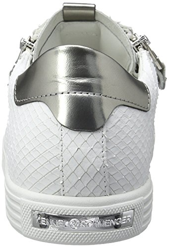 Kennel und Schmenger Schuhmanufaktur  Town, Sneakers Basses femme Weiß (bianco/gunmetal Sohle Weiss)
