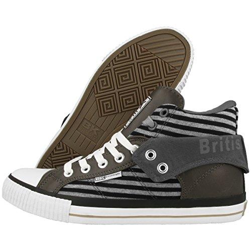 Britânicos Homens b34 Bk Cavaleiros Roco 02 Cinza Sapatos 3730 escuro dq00wtE