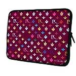 Luxburg® Design Laptoptasche Notebooktasche Sleeve für 13,3 Zoll, Motiv: LX Muster weinrot