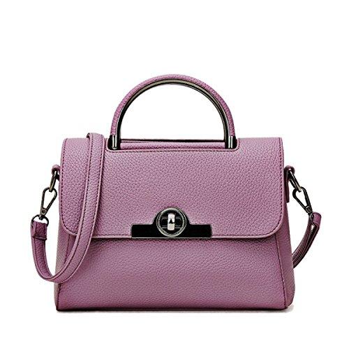 Modo Delle Signore Della Borsa Di Alta Shoulder Bag Messenger Bag Sacchetto Della Borsa Casuale,Gray Purple
