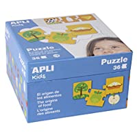 Apli kids 14360 The Origins of Food Puzzle Set