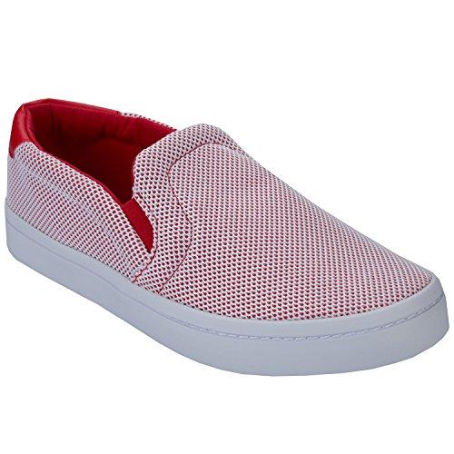 ADIDAS Hombre Bajas Zapatillas de Deporte S81871 Courtvantage Adicolor 43 1-3 Bianco/Rosso
