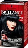 Brillance Intensiv-Color-Creme, 891 Blauschwarz, 3er Pack (3 x 1 Stück)