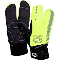 Optimum Nitebrite Cycling Lobster Men's Gloves - Black/Fluro / Large